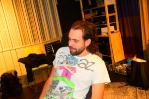 Picture of Jacob Westberg in a music studio