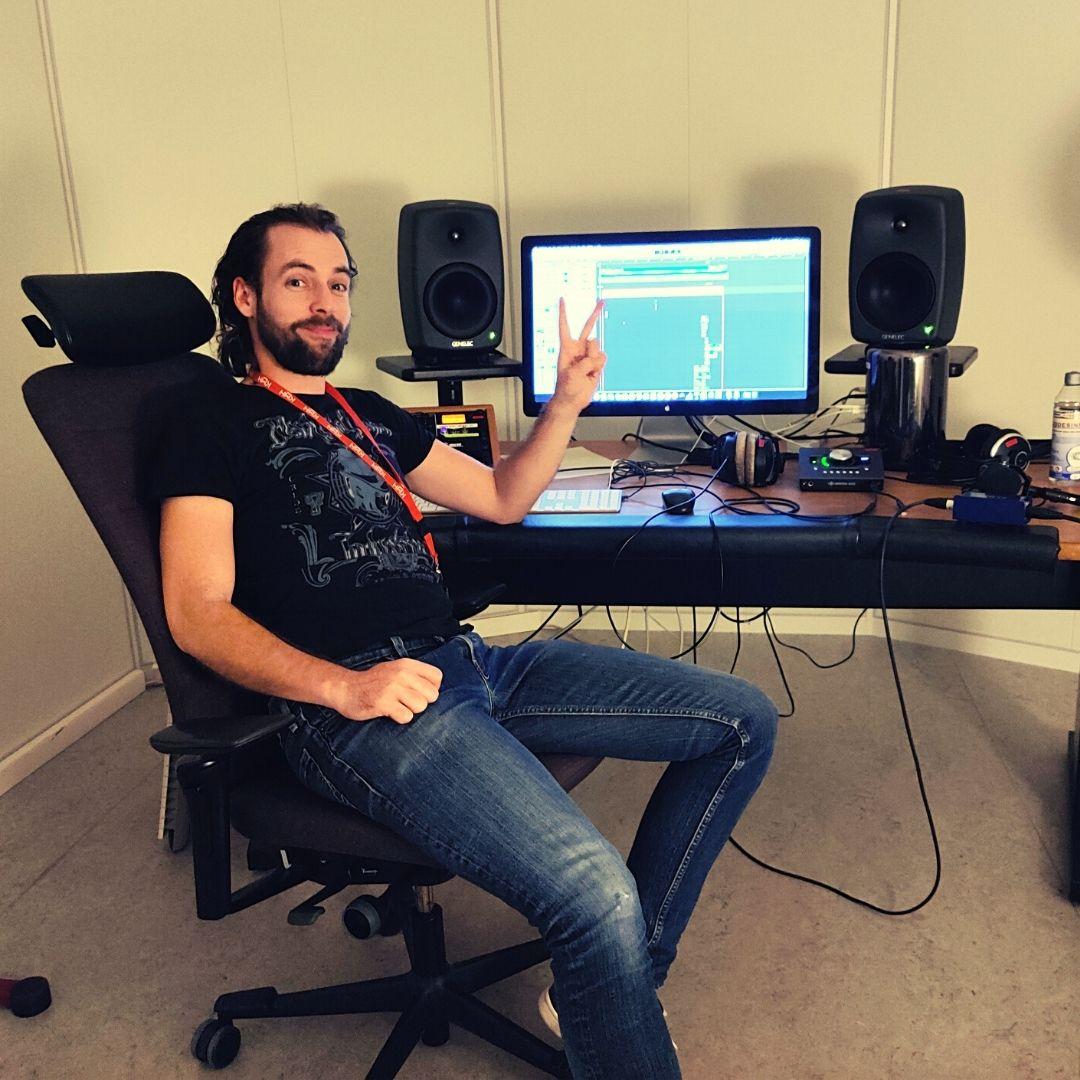 Mount West in the studio