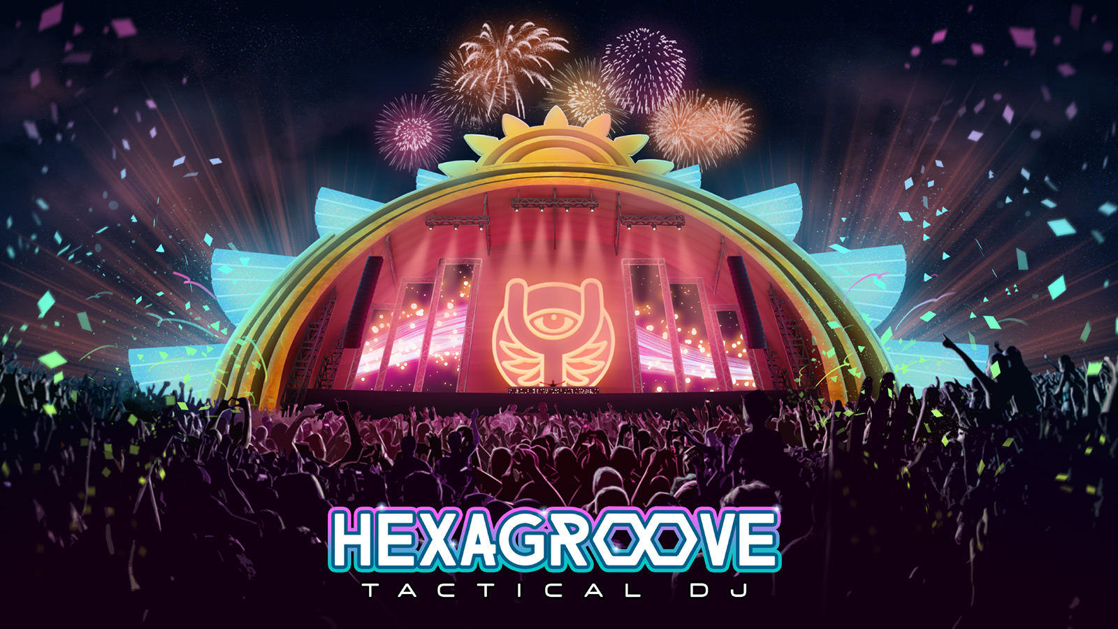 Promo art for the game Hexagroove