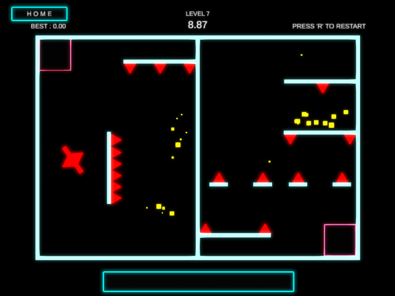 Screenshot from the puzzle game No Control with music from Mount West