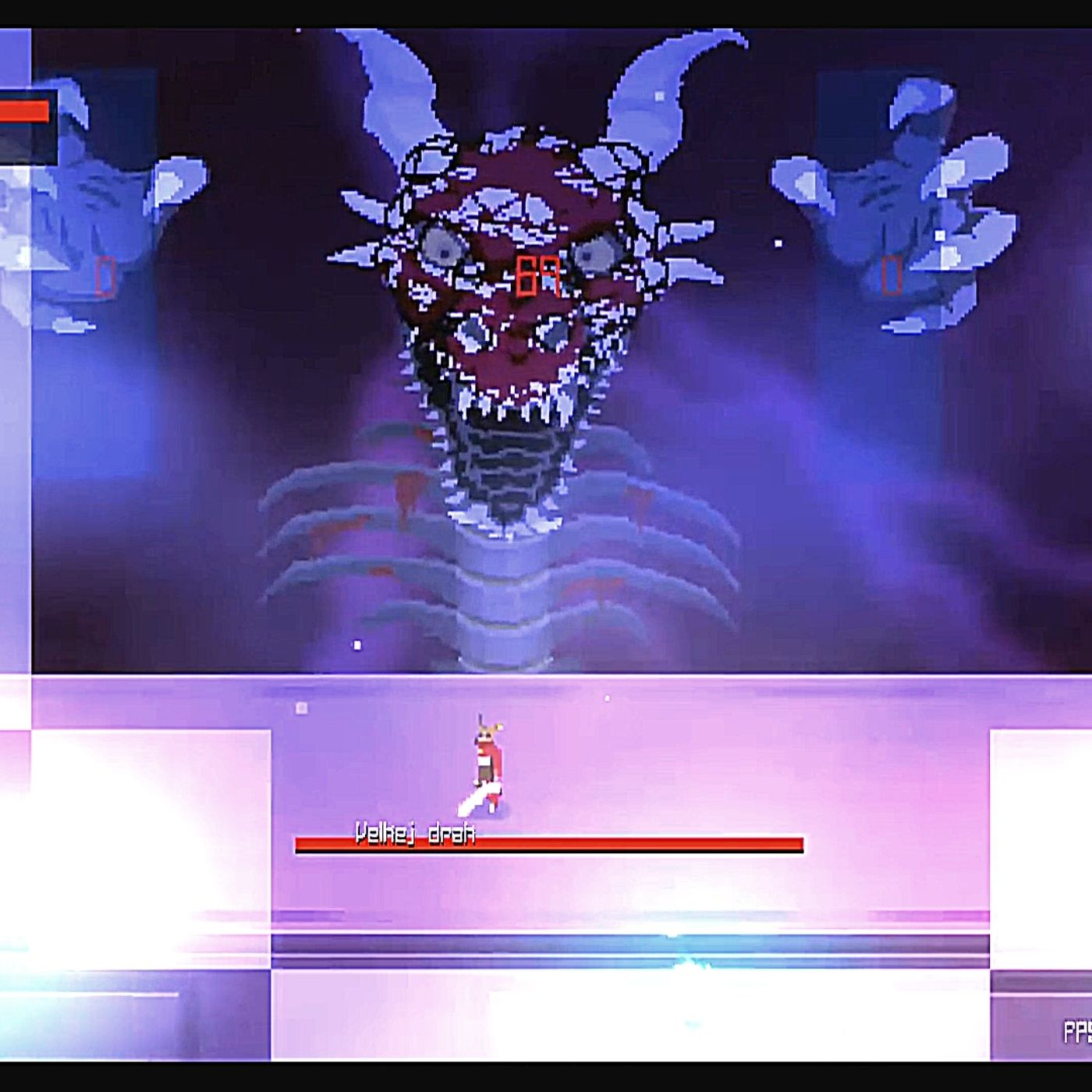 Still image of a boss fight from the Project Sang demo